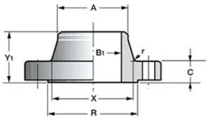 воротниковые стальные приварные встык фланцы